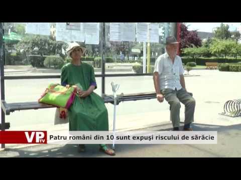 Patru români din zece sunt expuși riscului de sărăcie