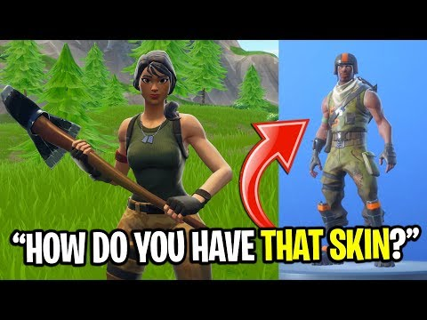 NOOBS REACT TO THE RAREST SKIN IN FORTNITE! (Aerial Assualt Trooper)