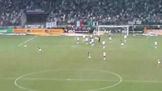 Este foi o gol do um empate de um jogo que se desenhou um fiasco no primeiro tempo. Mas aqui é Palmeiras! E raça, e garra, é espírito de campeão!