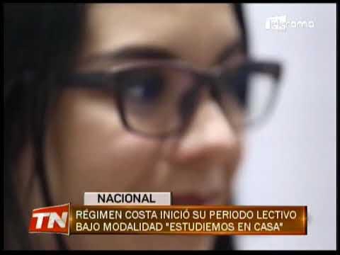 """Régimen costa inició su periodo lectivo bajo modalidad """"Estudiemos en casa"""""""
