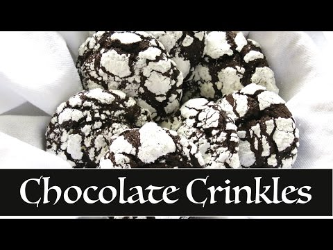Chocolate Crinkles -- The Frugal Chef