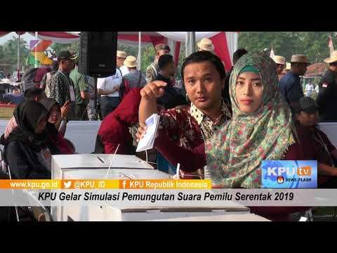 KPU Simulasikan Pemungutan dan Penghitungan Suara Pemilu Serentak 2019
