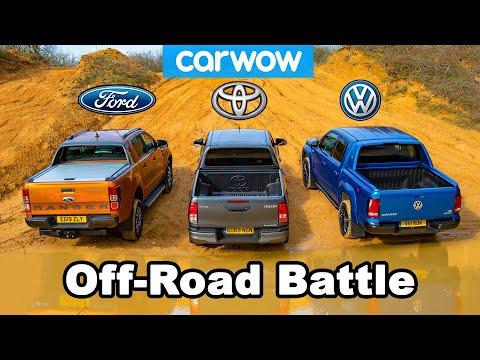 VW Amarok vs Ford Ranger vs Toyota Hilux: OFF-ROAD BATTLE!