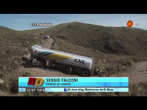 Informe Noticiero Doce sobre el camión atascado en las Sierras
