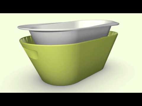 AmelucaBaby - vaschetta da bagno per bambini Hoppop Bato+