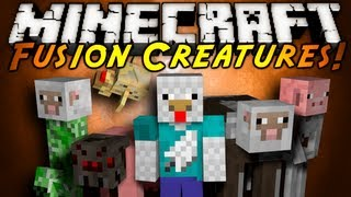Minecraft Mod Showcase : FUSION CREATURES!