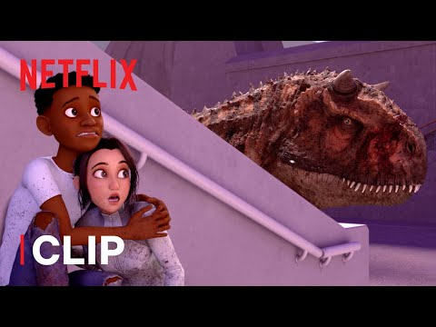 Race to Escape 🦖 Jurassic World Camp Cretaceous | Netflix Futures