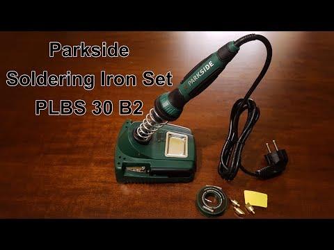 Prezentare Pistol de lipit si pirogravat electric Parkside Set PLBS 30 B2