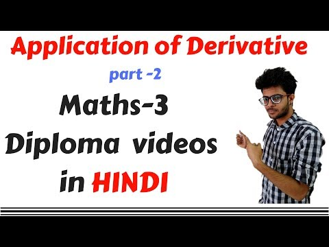 Equation of Tangent and normal   in  Application of derivative part 2 | diploma maths 3