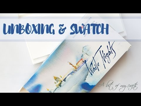 St. Petersburg White Nights Watercolors - Unboxing & Swatch