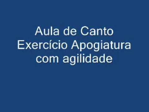 Aula de Canto 3/5 Exerc�cio Apogiatura e agilidade
