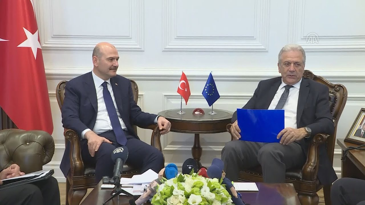 Συνάντηση του Επίτροπου Δημήτρη Αβραμόπουλου με τον υπουργό Εσωτερικών της Τουρκίας Σουλεϊμάν Σόιλου