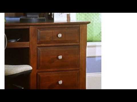 Video Cool product video released online for the Cottage Computer Desk With Hutch Finish