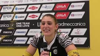 Liu Jo Modena-Pesaro 3-0, le parole di Camilla Mingardi