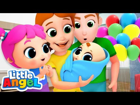 Meet Our Baby Brother! New Baby Song | Nursery Rhymes by Little Angel - Thời lượng: 3 phút.