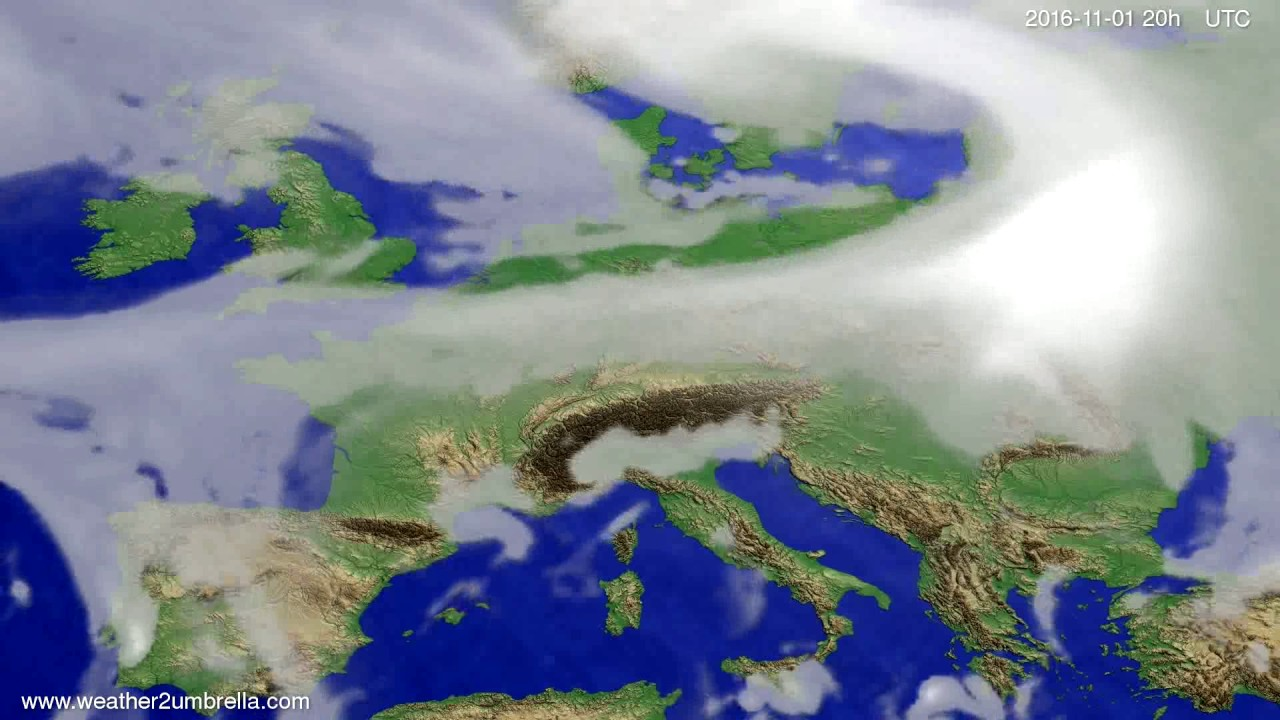 Cloud forecast Europe 2016-10-30