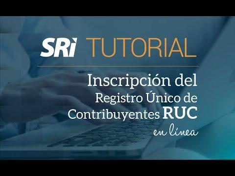 Ver el video Inscripción de RUC en línea