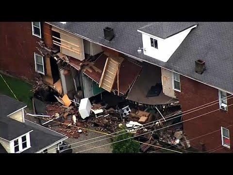 ΗΠΑ: Η καταιγίδα γκρέμισε κτίριο!