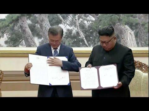 Βόρεια – Νότια Κορέᨨ: Συμφωνία για την αποπυρηνικοποίηση της χερσονήσου…
