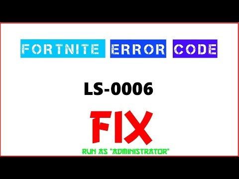 FORTNITE ERROR LS-0006, CAN'T DOWNLOAD NEW UPDATE *FIX*