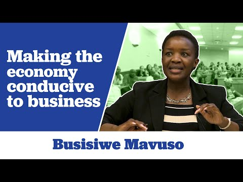 Busisiwe Mavuso on Making the economy conducive to business