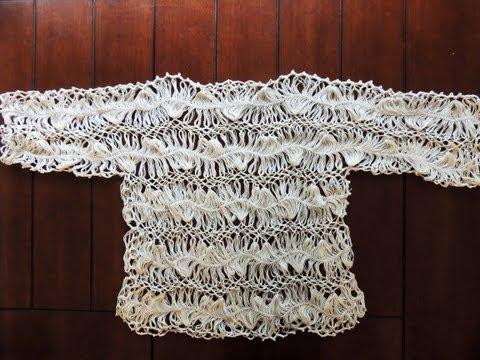 Crochet y Horquilla : Elegante Bluson.  Parte 1