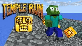 Monster School : TEMPLE RUN CHALLENGE - Minecraft animation
