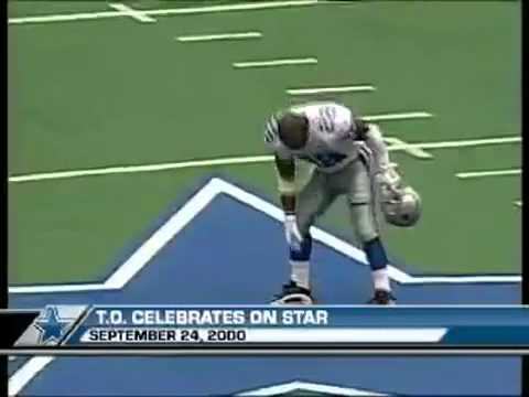 Terrell Owens Stamps on Dallas Star