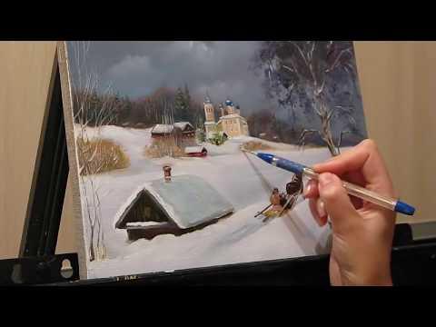 Мастер класс рисование пейзажа маслом