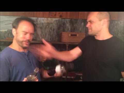 Dave Matthews and his friend/luthier Brian Calhoun enjoy smacking the hell out of each other.