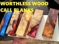Alumilite casting Worthless wood into Call blanks
