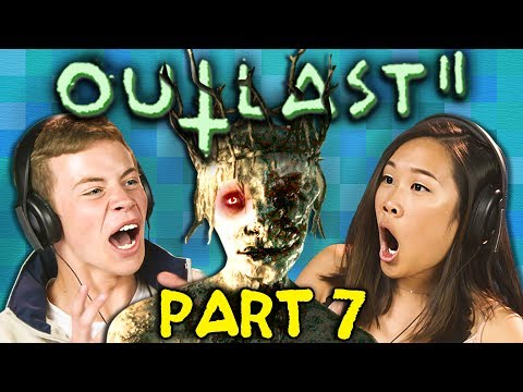 DOWNPOUR OF BLOOD!! | OUTLAST 2 - Part 7 (React: Horror Gaming) (видео)