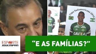 Comentarista Flavio Prado, da Rádio Jovem Pan, criticou a diretoria da Chapecoense. Segundo ele, clube catarinense não tem dado assistência às famílias das vítimas do acidente aéreo de Medellín.