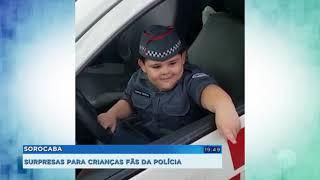 Sorocaba: crianças fãs da PM recebem visita inusitada