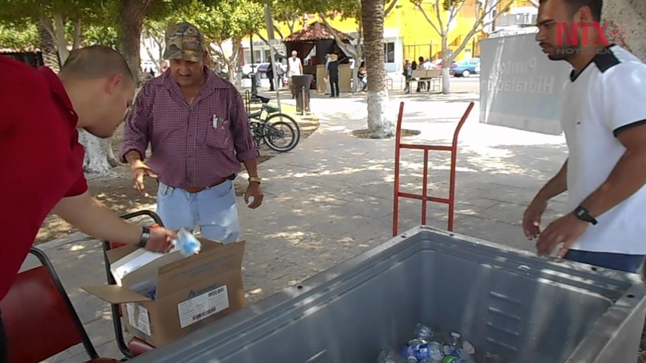 Colocan puntos de rehidratación en calles de San Luis Río Colorado