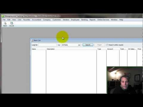 Managing and Tracking Your Inventory With QuickBooks Segment 1 - How to set up inventory parts