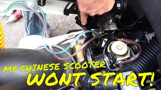 7. My chinese scooter wont idle or start Check the fuel petcock