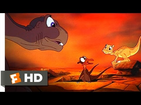 The Land Before Time (5/10) Movie CLIP - Littlefoot And Ducky Meet Petrie (1988) HD