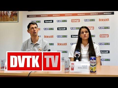 Sajtótájékoztató az Aluinvent DVTK - Keltern Európa Kupa mérkőzés előtt