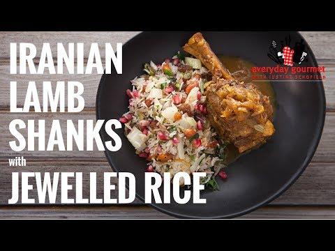 Iranian Lamb Shanks with Jewelled Rice – Sunbeam | Everyday Gourmet S6 E81