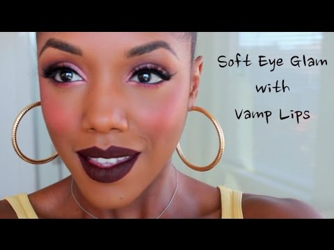 lips - Vamp lips always come out in the fall, and they go great with this simple glam eye you can create using pinks, purples and cranberry shades. This lip was created with a new pencil called 'Ellarie'...