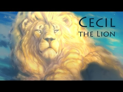 Мультипликатор Disney нарисовал портрет льва Сесила
