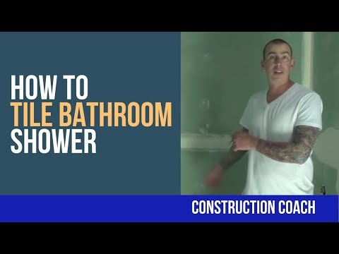 How to Tile Bathroom Shower - Complete video!