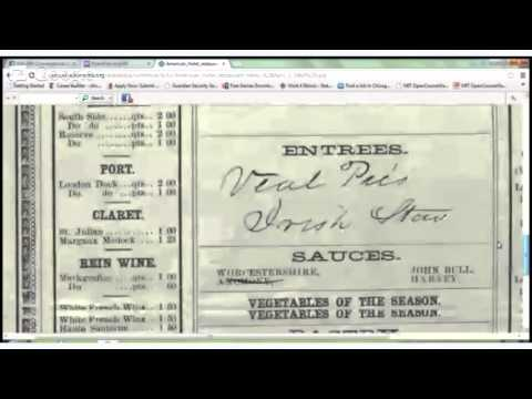 ENG 099 Conversational American English Lecture 4: Restaurant Menus
