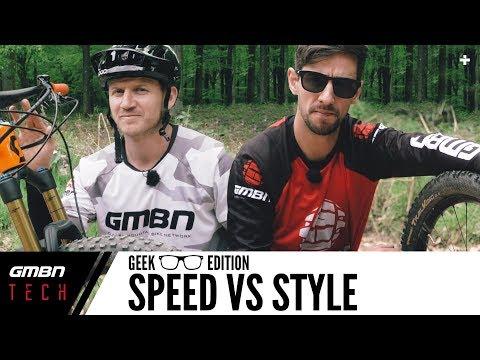 Speed Vs Style Mountain Bike Setup Differences   GMBN Tech Geek Edition (видео)