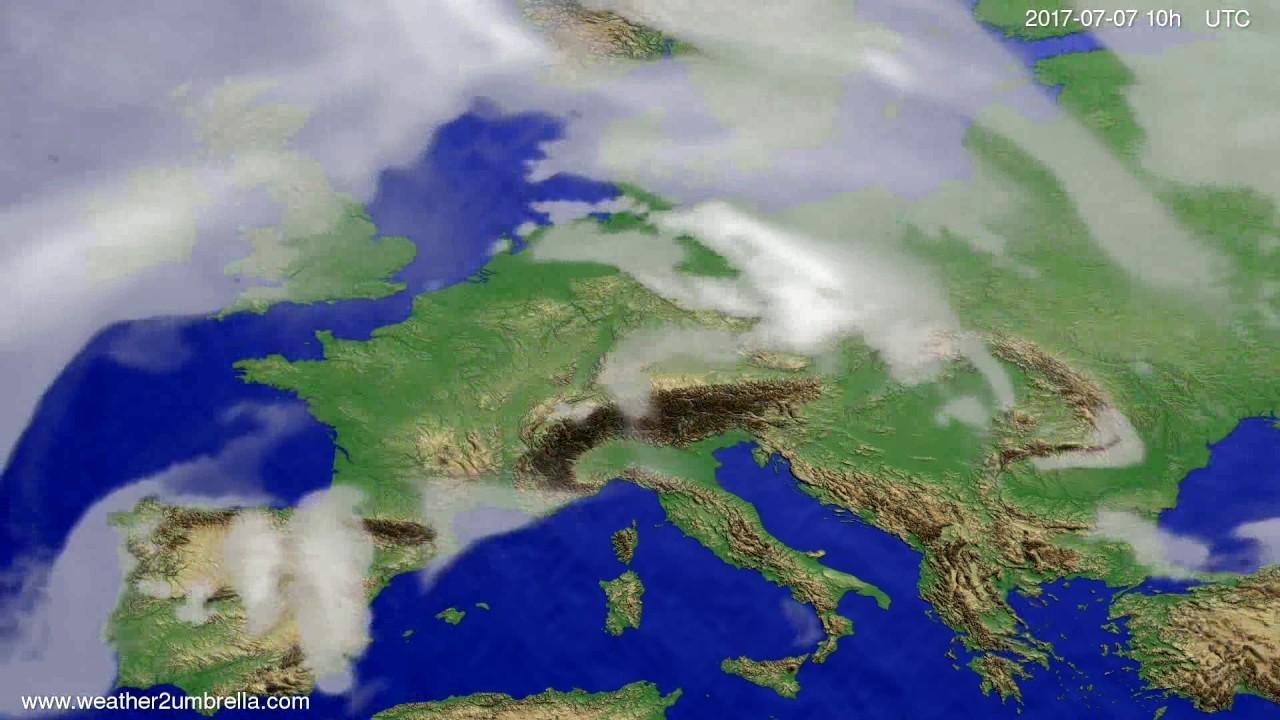 Cloud forecast Europe 2017-07-05