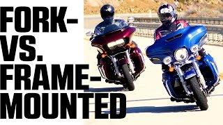 4. Harley Davidson Glide Off: Electra Glide vs. Road Glide | 4K
