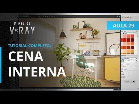 Vray 3.6 para SketchUp - Aula 29/30: CENA INTERNA | TUTORIAL COMPLETO