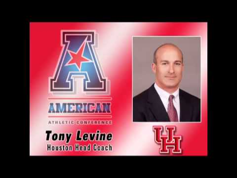 teleconference - Houston Head Coach Tony Levine speaks at the American Athletic Conference's weekly FB teleconference.