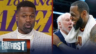 Video Stephen Jackson on why LeBron fits best with Popovich's Spurs and not Lakers | FIRST THINGS FIRST MP3, 3GP, MP4, WEBM, AVI, FLV Juni 2018